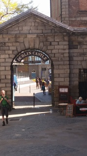 The entrance to Dublin Castle on Dame Street