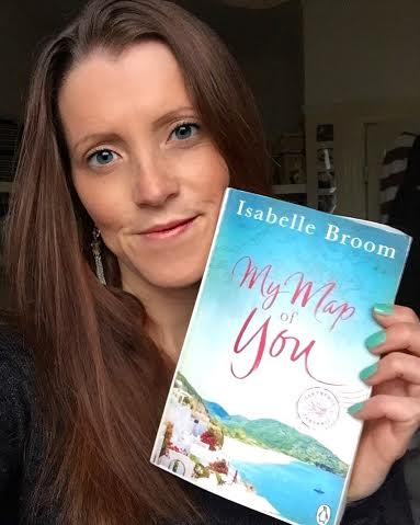 Isabelle Broom with her new book, My Map of You